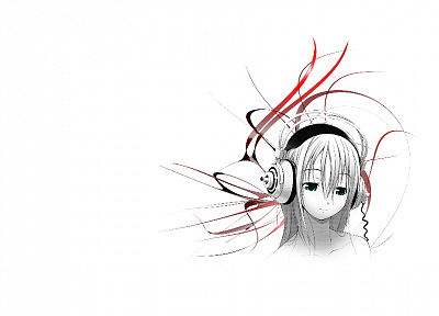 headphones, anime, Nitroplus, Sonico, Soniko - desktop wallpaper