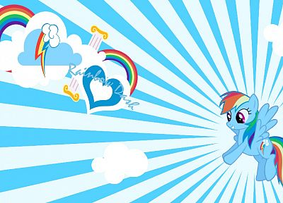 rainbows, My Little Pony, Rainbow Dash, My Little Pony: Friendship is Magic - desktop wallpaper