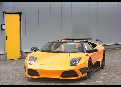 cars, vehicles, Lamborghini Murcielago, orange cars, italian cars - random desktop wallpaper