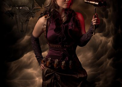 women, steampunk, Abney Park - duplicate desktop wallpaper