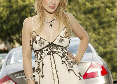 blondes, dress, Hilary Duff, celebrity - random desktop wallpaper