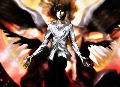 Death Note, angels, Yagami Light - related desktop wallpaper