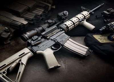 rifles, scope, weapons, Magpul, AR-15, LaRue Tactical, Aimpoint, STANAG, 5.56x45mm NATO - related desktop wallpaper