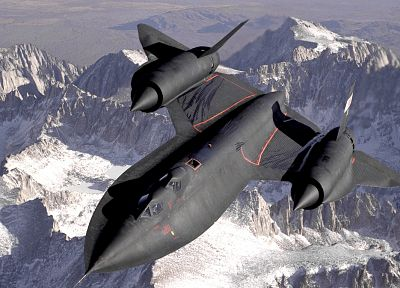 mountains, snow, aircraft, military, planes, SR-71 Blackbird - related desktop wallpaper