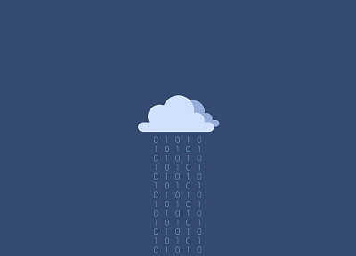 clouds, minimalistic, binary, simple background, blue background - related desktop wallpaper