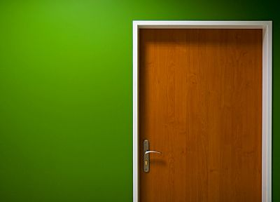 green, minimalistic, wall, interior, doors - random desktop wallpaper