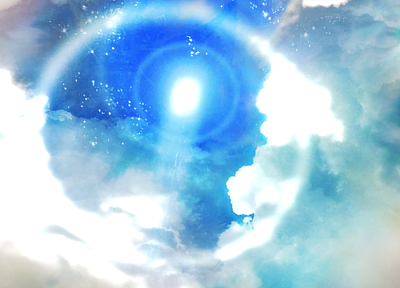video games, blue, clouds, Sun, tower, Aion, skyscapes - random desktop wallpaper