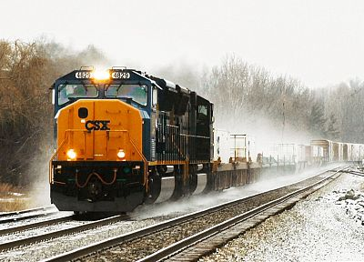 trains, csx, railroad tracks, vehicles, locomotives - desktop wallpaper