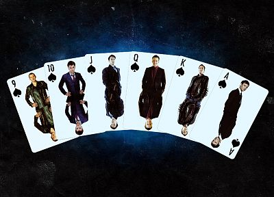 cards, David Tennant, Torchwood, The Master, Doctor Who, John Simm, Christopher Eccleston, John Barrowman, Tenth Doctor, Jack Harkness, Ninth Doctor - related desktop wallpaper