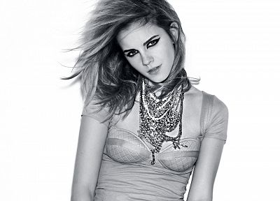 women, Emma Watson, actress, necklaces - random desktop wallpaper