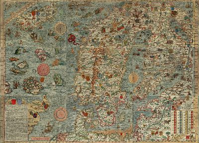 Europe, maps, Iceland, old map, Scandinavia - related desktop wallpaper