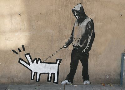 Banksy, street art, 2 wheel drive - related desktop wallpaper