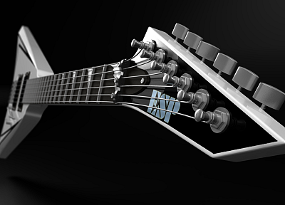 3D view, music, guitars - random desktop wallpaper