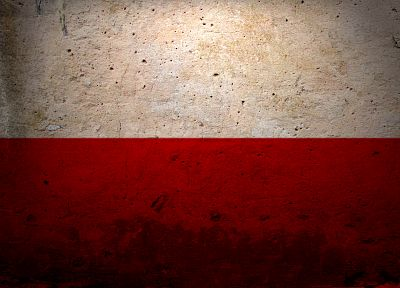 red, white, grunge, flags, Polish, Poland - desktop wallpaper