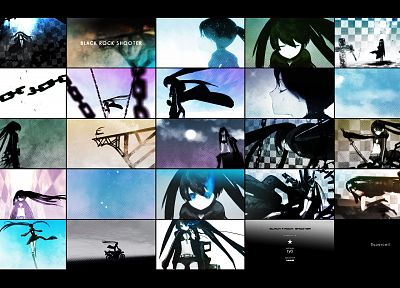 Black Rock Shooter, mosaic, trailer - random desktop wallpaper