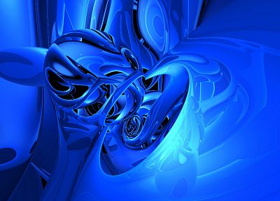 abstract, blue - desktop wallpaper