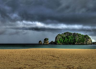 ocean, islands, HDR photography, beaches - desktop wallpaper