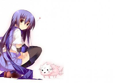 Angel Beats!, white background, Shiina (Angel Beats) - desktop wallpaper