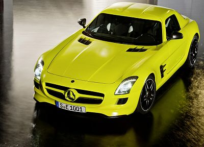cars, AMG, Mercedes-Benz, German cars, Mercedes-Benz SLS AMG E-Cell - related desktop wallpaper