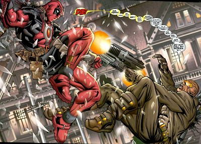 comics, Deadpool Wade Wilson, Marvel Comics - random desktop wallpaper