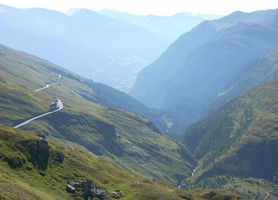 mountains, landscapes, nature, Austria, valleys, roads - related desktop wallpaper