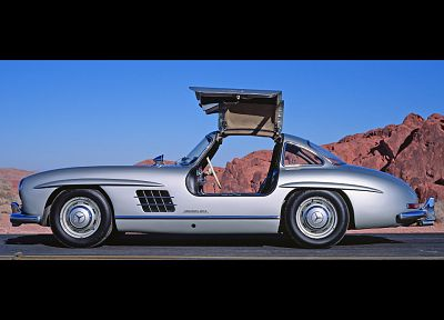 cars, vehicles, Mercedes-Benz 300SL, side view, Mercedes-Benz, Gull-wing door - related desktop wallpaper