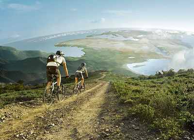 bicycles, curious, Earth, funny, bikes, mountain bikes - desktop wallpaper