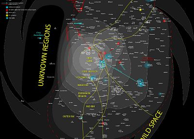 Star Wars, maps, infographics - related desktop wallpaper
