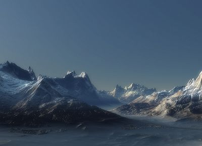 mountains, landscapes, panorama - related desktop wallpaper