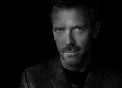 dark, Hugh Laurie, Gregory House, House M.D., portraits - desktop wallpaper