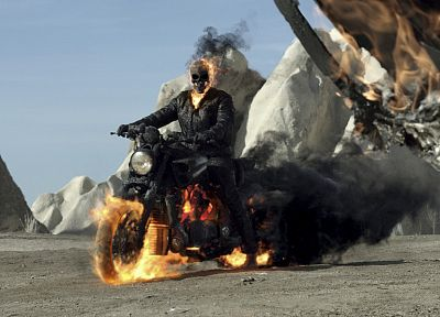 skulls, Ghost Rider, motorbikes - related desktop wallpaper