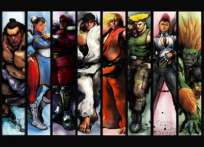 Street Fighter, Ryu, Akuma, Chun-Li, Ken, Blanka, M. Bison, C. Viper, E. Honda, Guile - related desktop wallpaper