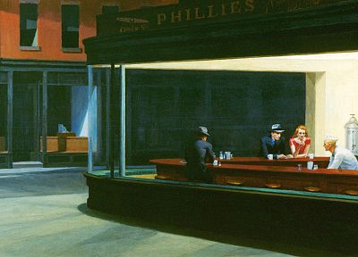 Edward Hopper, Nighthawks At The Diner - random desktop wallpaper