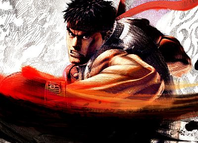 video games, Ryu, Capcom, Street Fighter IV, 3D - random desktop wallpaper