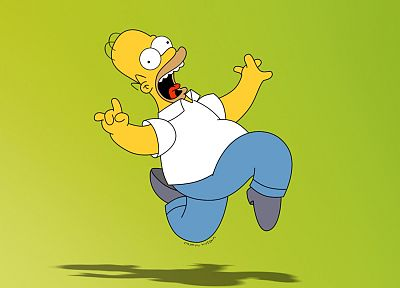 Homer Simpson, The Simpsons, lime green - desktop wallpaper