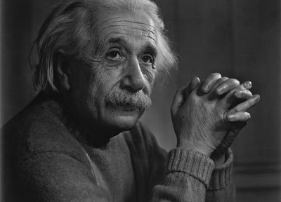 grayscale, Albert Einstein - random desktop wallpaper