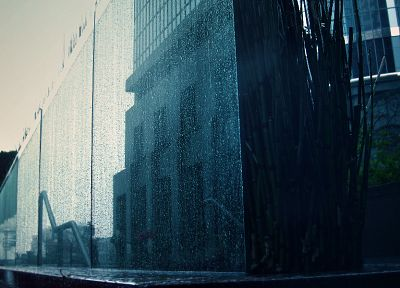 cityscapes, architecture, water drops - random desktop wallpaper