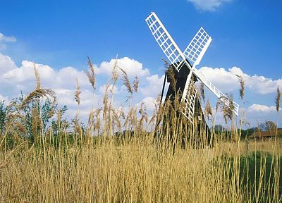 United Kingdom, windmills - random desktop wallpaper