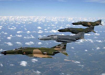 aircraft, military, F-4 Phantom II - random desktop wallpaper