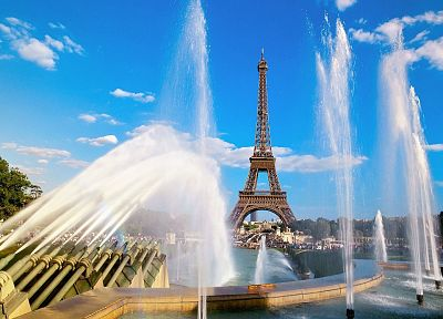 Eiffel Tower, Paris, cityscapes, fountain - related desktop wallpaper