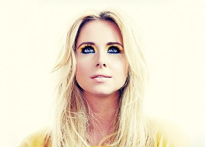 blondes, women, blue eyes, Diana Vickers, portraits - related desktop wallpaper
