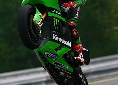 monsters, Kawasaki, vehicles, motorbikes, motorcycles, wheelie - related desktop wallpaper