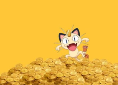 Pokemon, coins, money, Meowth - desktop wallpaper