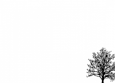 minimalistic, trees, simple background, white background - related desktop wallpaper
