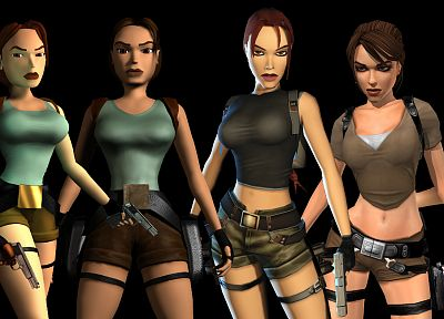 Tomb Raider, Lara Croft, evolution - random desktop wallpaper