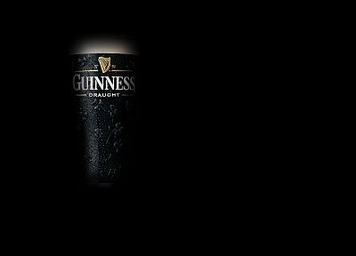 beers, black, minimalistic, Guinness - related desktop wallpaper