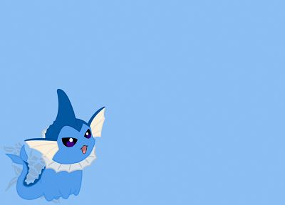 Pokemon, blue, Vaporeon - random desktop wallpaper
