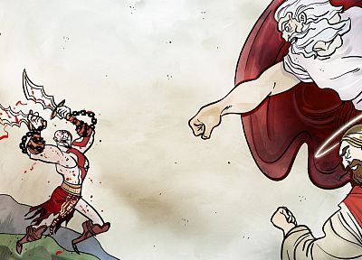 video games, Kratos, Penny Arcade, God of War, parody - random desktop wallpaper
