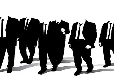 Anonymous, Reservoir Dogs, monochrome - random desktop wallpaper