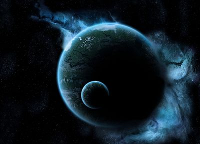 abstract, planets, space - desktop wallpaper